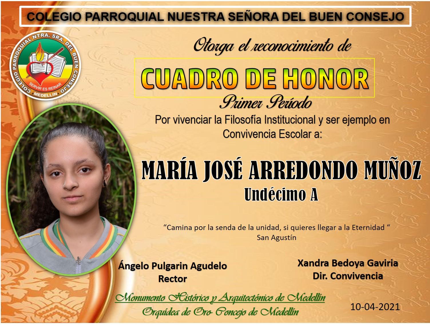 11° MARÍA JOSÉ ARRENDONO MUÑOZ