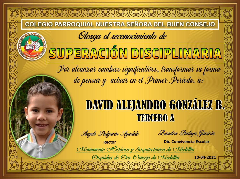 3° DAVID ALEJANDRO GONZALEZ B.