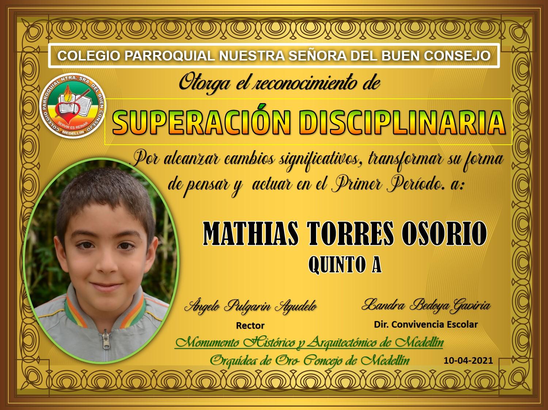 5°A MATIAS TORRES OSORIO