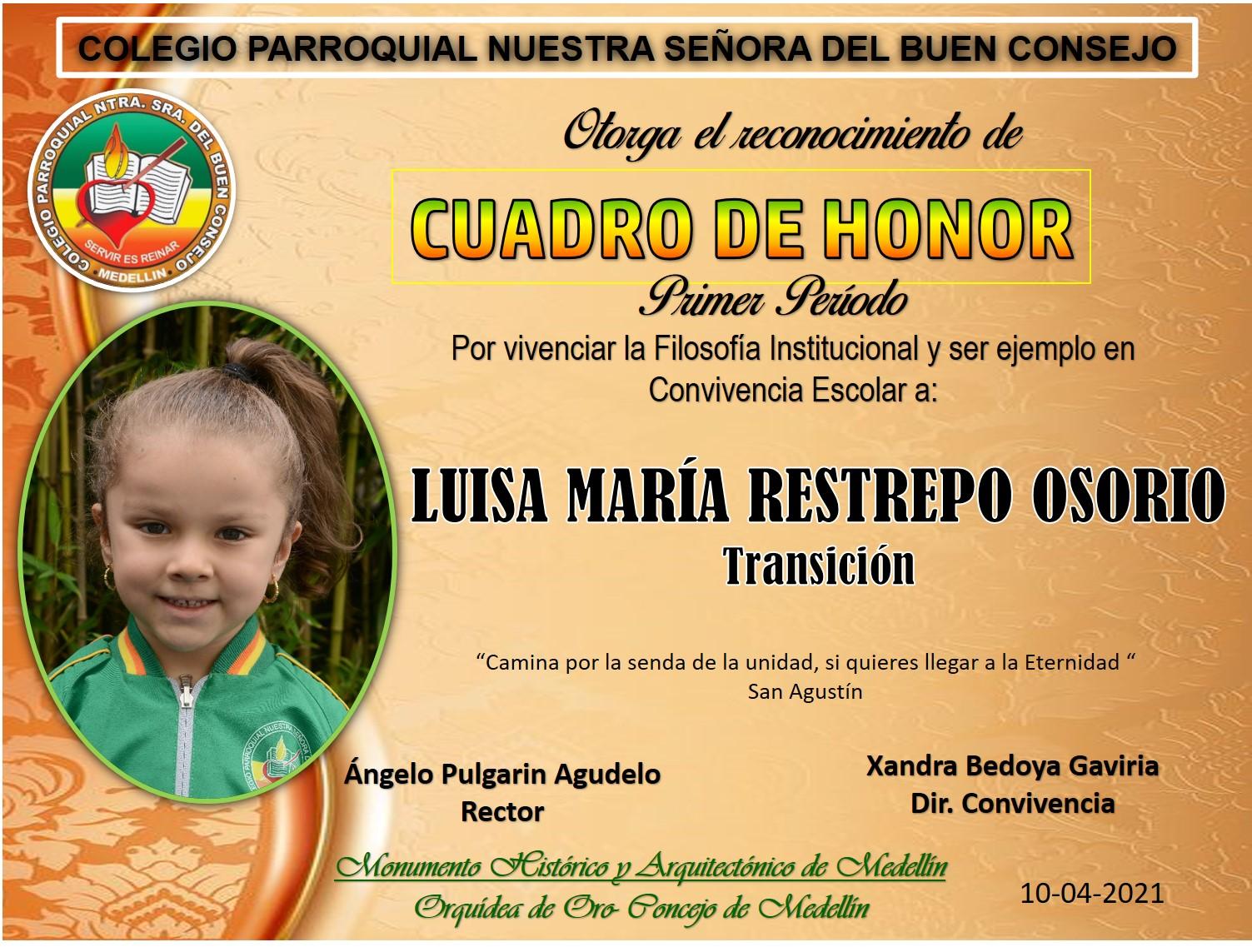LUISA MARIA RESTREPO OSORIO -TRANSICIÓN.