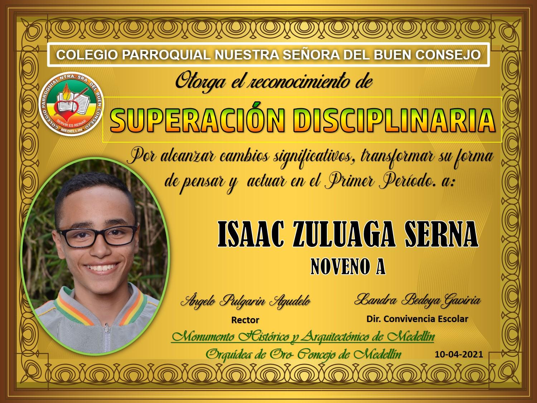 9°A ISAAC ZULUAGA SERNA