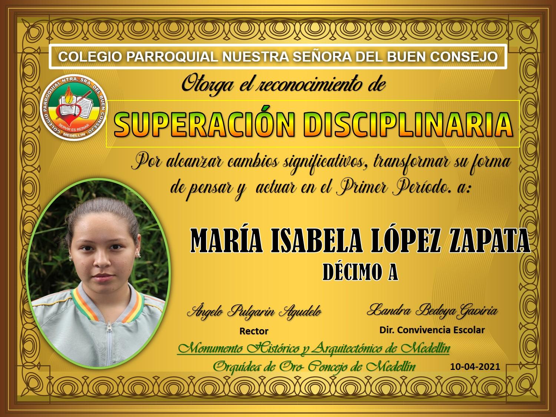 10°A MARIA ISABELA LOPEZ ZAPATA