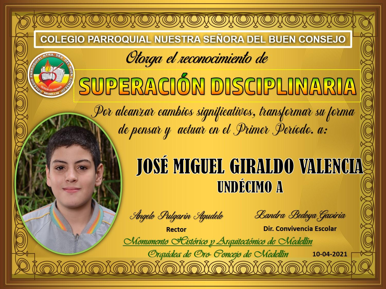 11°A JOSE MIGUEL GIRALDO VALENCIA