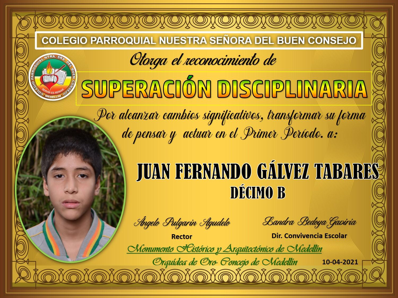 10°B JUAN FENRANDO GALVEZ TABARES