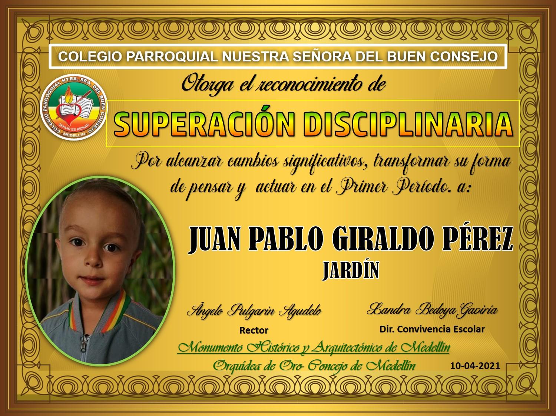 JARDIN JUAN PABLO GIRALDO PÉREZ