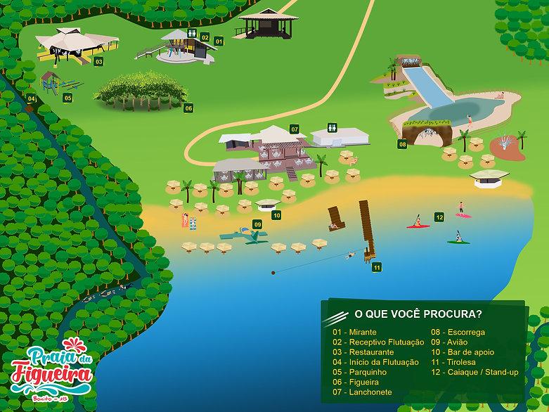 Mapa estrutura Praia da Figueira