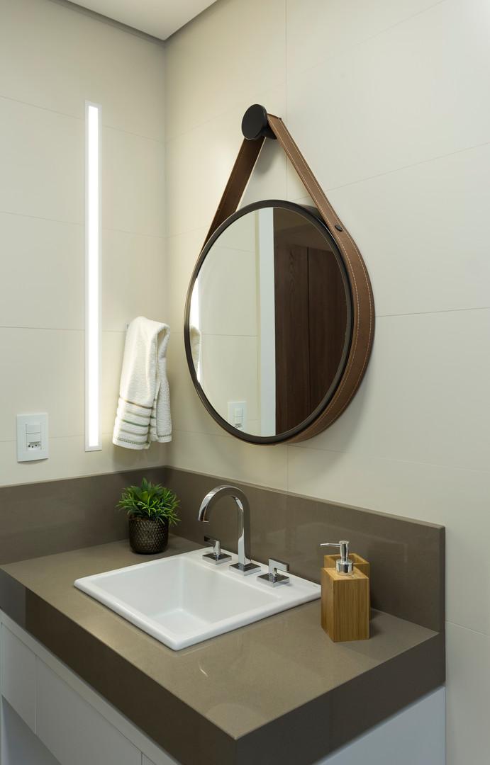 lavabo espelho redondo apartamento flori