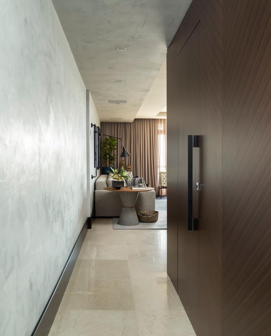 projeto apartamento hall de entrada ana