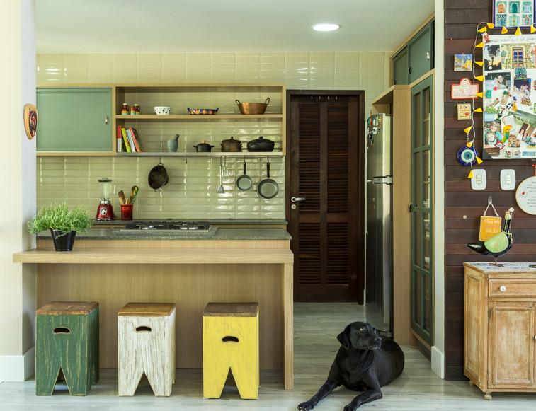 Cozinha Verde Projeto Arquitetura Ana Tr