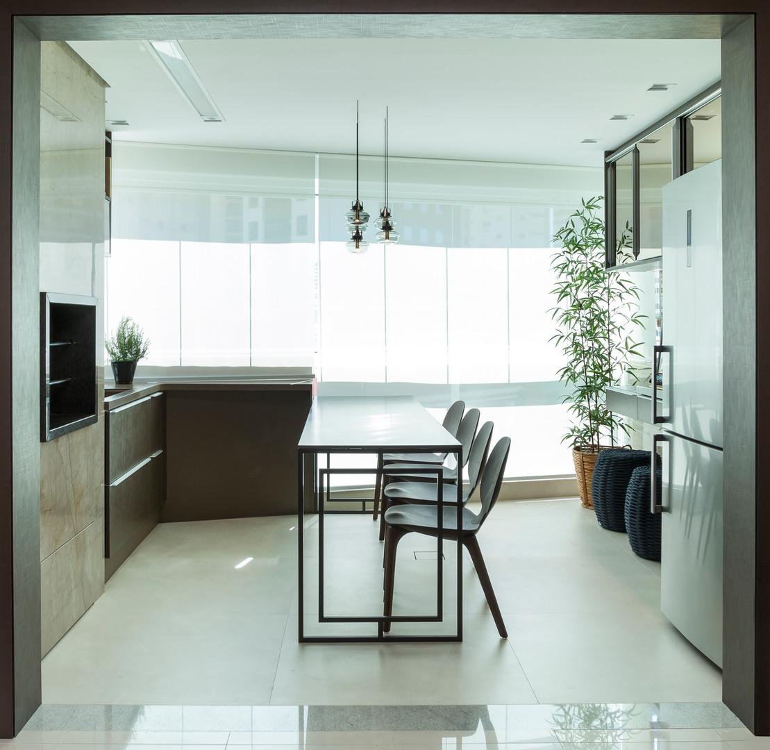 Apartamento com churrasqueira integrada
