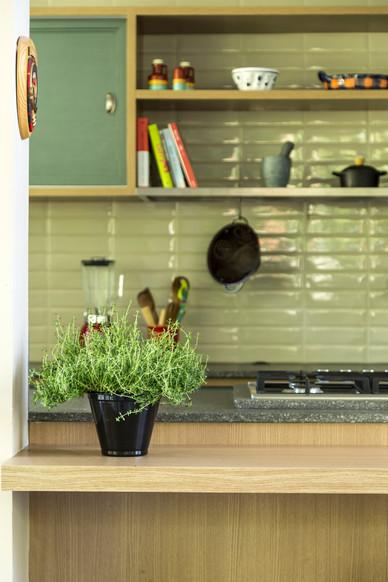 Cozinha Verde Apartameto Florianopolis P