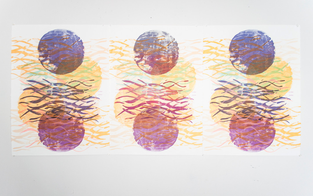 Silkscreen on paper 2018  Made with the support of a Visual Arts and New Media Individual Project Grant from the Alberta Foundation for the Arts
