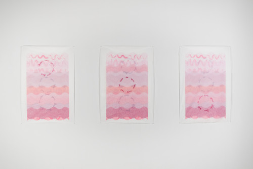 Silkscreen on paper and interfacing 2018  Made with the support of a Visual Arts and New Media Individual Project Grant from the Alberta Foundation for the Arts  Photo credit: Chelsea Yang-Smith