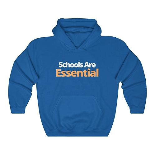 """Blue """"Schools Are Essential"""" Hoodie"""