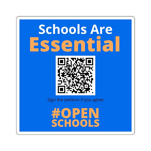"""""""Schools Are Essential"""" Stickers"""