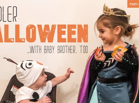 Halloween at Home in 2020: Toddler Fun With Anna and Olaf