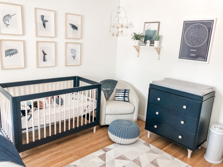 Colton's Sea and Sky-Themed Nursery Reveal + Guest Room Combo