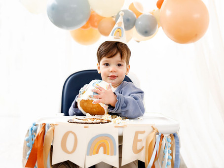 Colton's Boho Blue Rainbow First Birthday