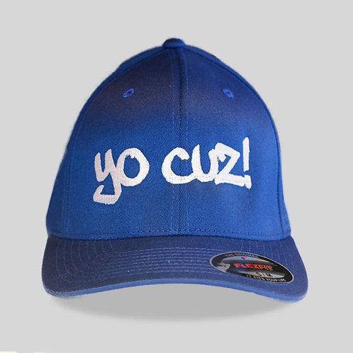 """Blue & White """"Yo Cuz"""" Hat"""