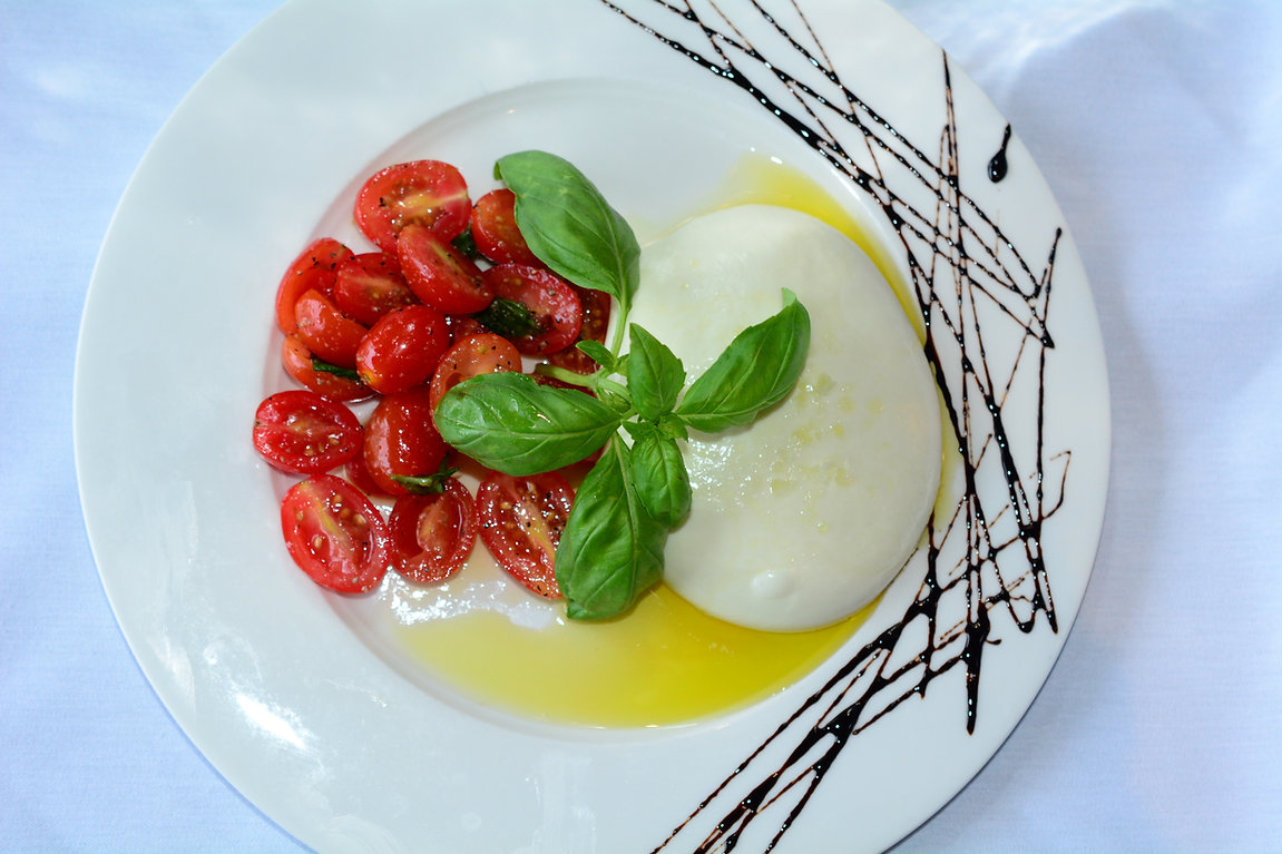 Tomato and Homemade mozzarella
