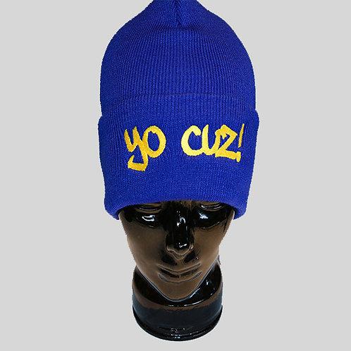 Blue & Gold Beanie Cap