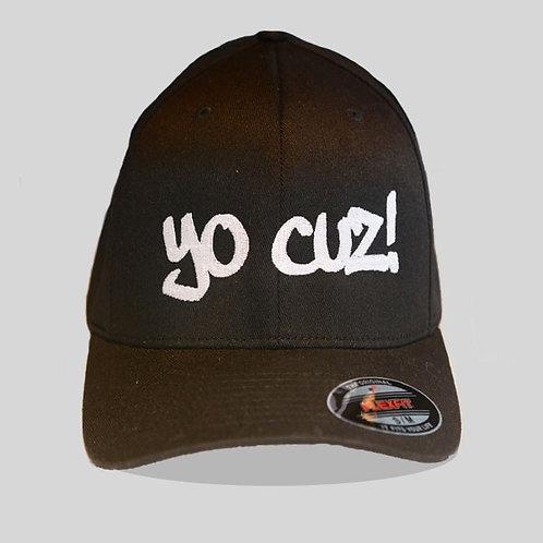 """Black & White """"Yo Cuz"""" Hat"""