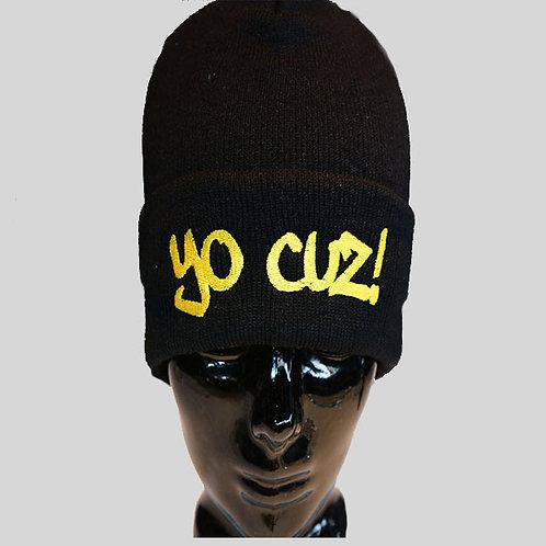 Black & Gold Beanie Cap