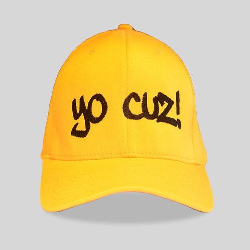 "Yellow & Black ""Yo Cuz"" Hat"