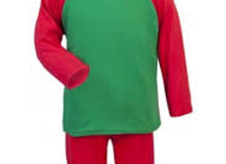 Red and Green Pyjama Set 3-4 years