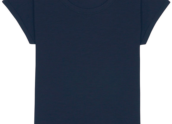 Organic Cotton V Neck T-shirt Navy - L