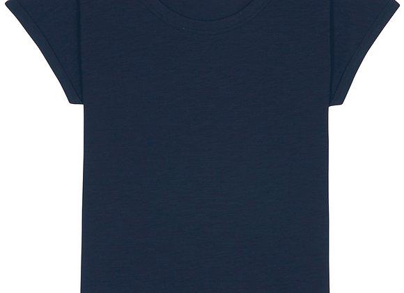 Organic Cotton V Neck T-shirt Navy - L