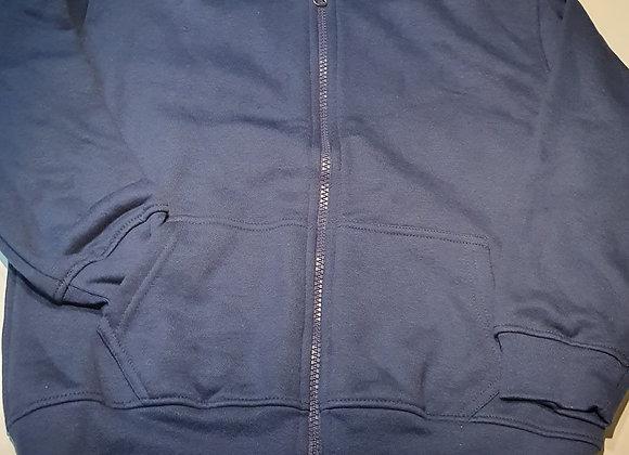 Navy Zip-up hoodie fleece 5-6 years