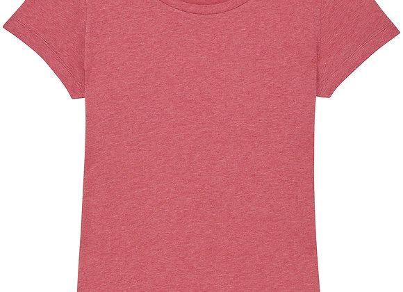 Organic Cotton T-shirt Heather Cranberry- XL
