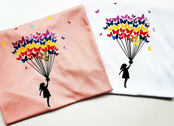Rainbow Butterflies T-Shirt - Adult