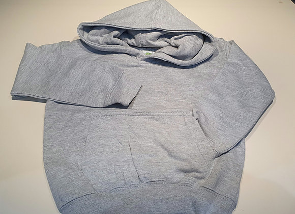 Grey hoodie fleece lined 1-2 years