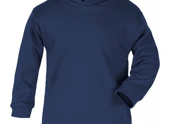 Hooded Navy Long Sleeve t-shirt 3-4 years