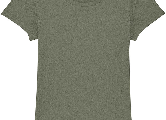 Organic Cotton T-shirt Heather Khaki -S