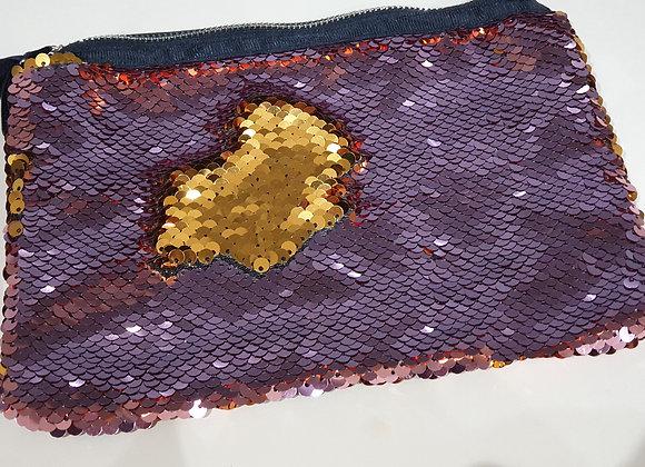 Sequin Mermaid Reveal Bag - Light Pink & Gold