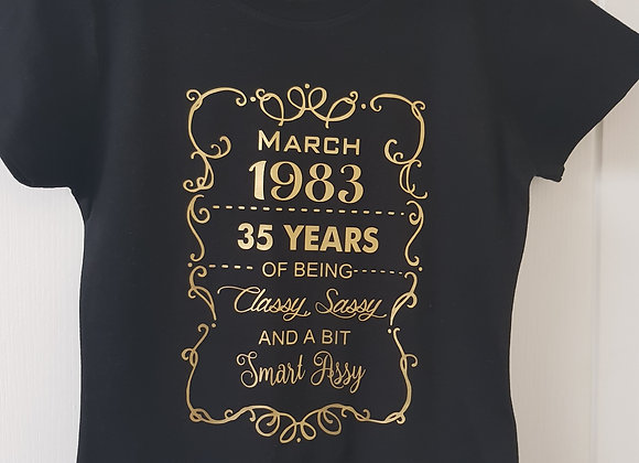 Adult age t-shirt