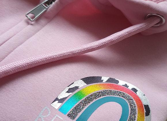 Zip-up Hoodie Rainbow Bee Happy