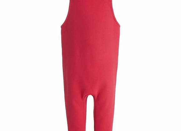 Red Fleece Lined Dungarees 12-18mths