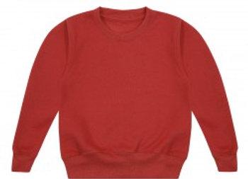 Red fleece lined jumper 6-12 mths