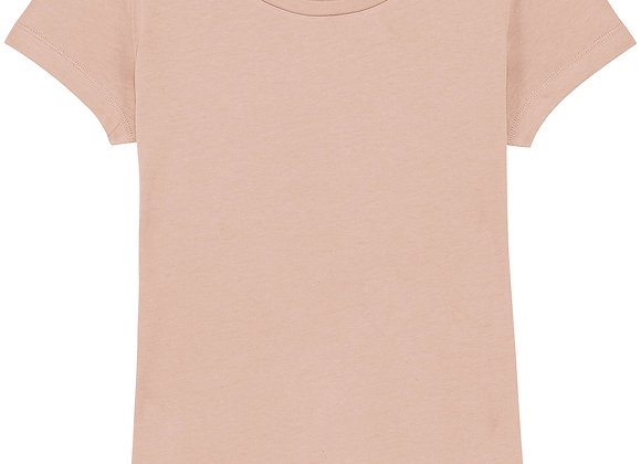 Organic Cotton T-shirt Faded Nude -S