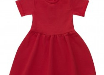 Red Fleece Lined Dress 6-12 mths