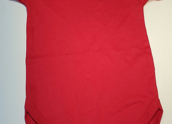 Red baby vest short sleeve 6-12 mths