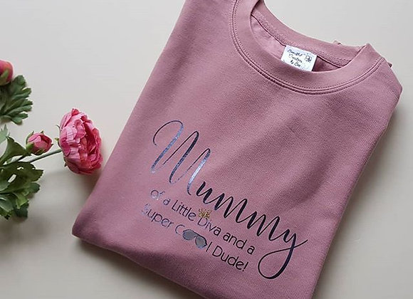 Mama Sweatshirt - Little Diva and Cool Dude