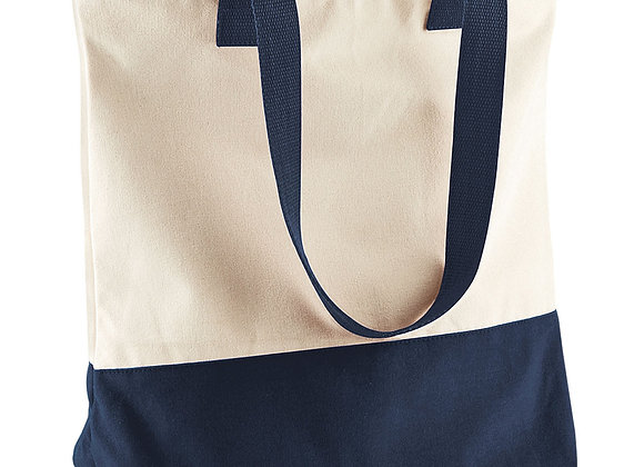 Canvas Tote - Natural & Navy