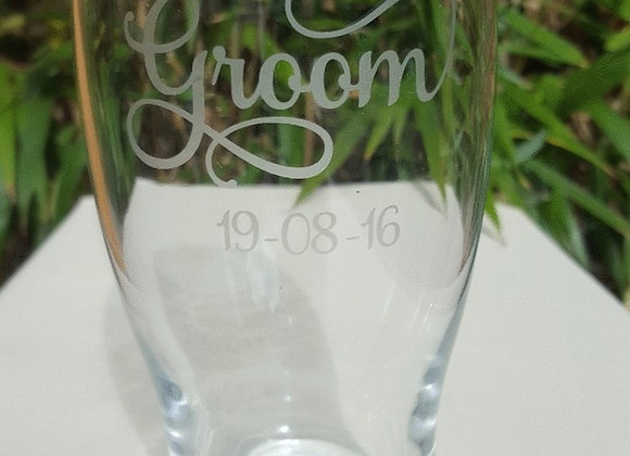 Pint Glass - Groom and Grooms party