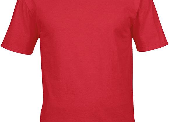 Mens Red Premium Cotton T-shirt - Large