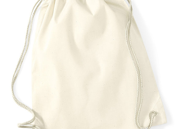 Cotton drawstring Bag - Natural